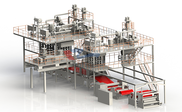 SSMS melt-spun nonwovens production line
